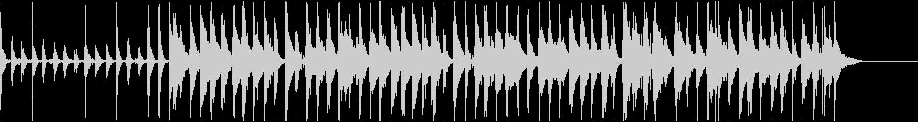サンバ風のBGMの未再生の波形