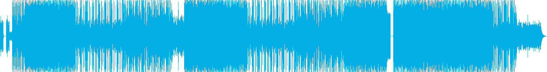 細かく動くドラムンベースの再生済みの波形