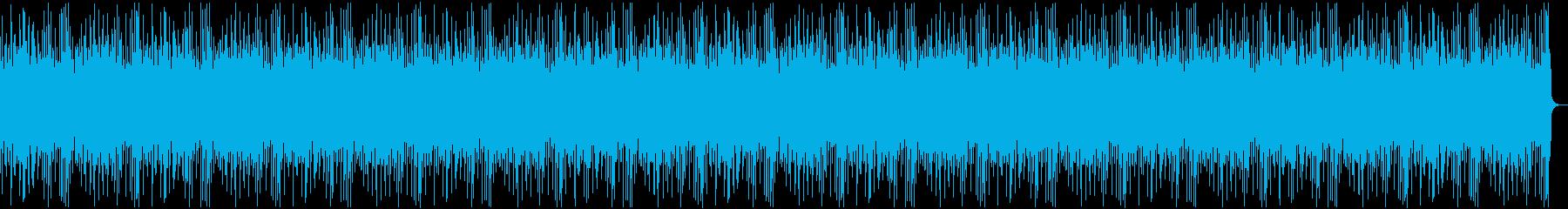 ビーチでほのぼのリラックスするBGMの再生済みの波形
