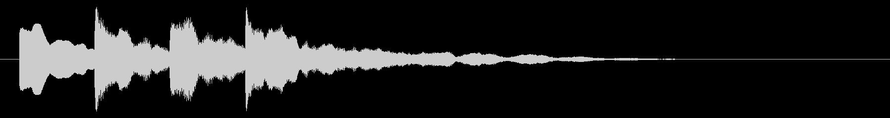 アナウンス(ピンポンパンポーン)2スローの未再生の波形