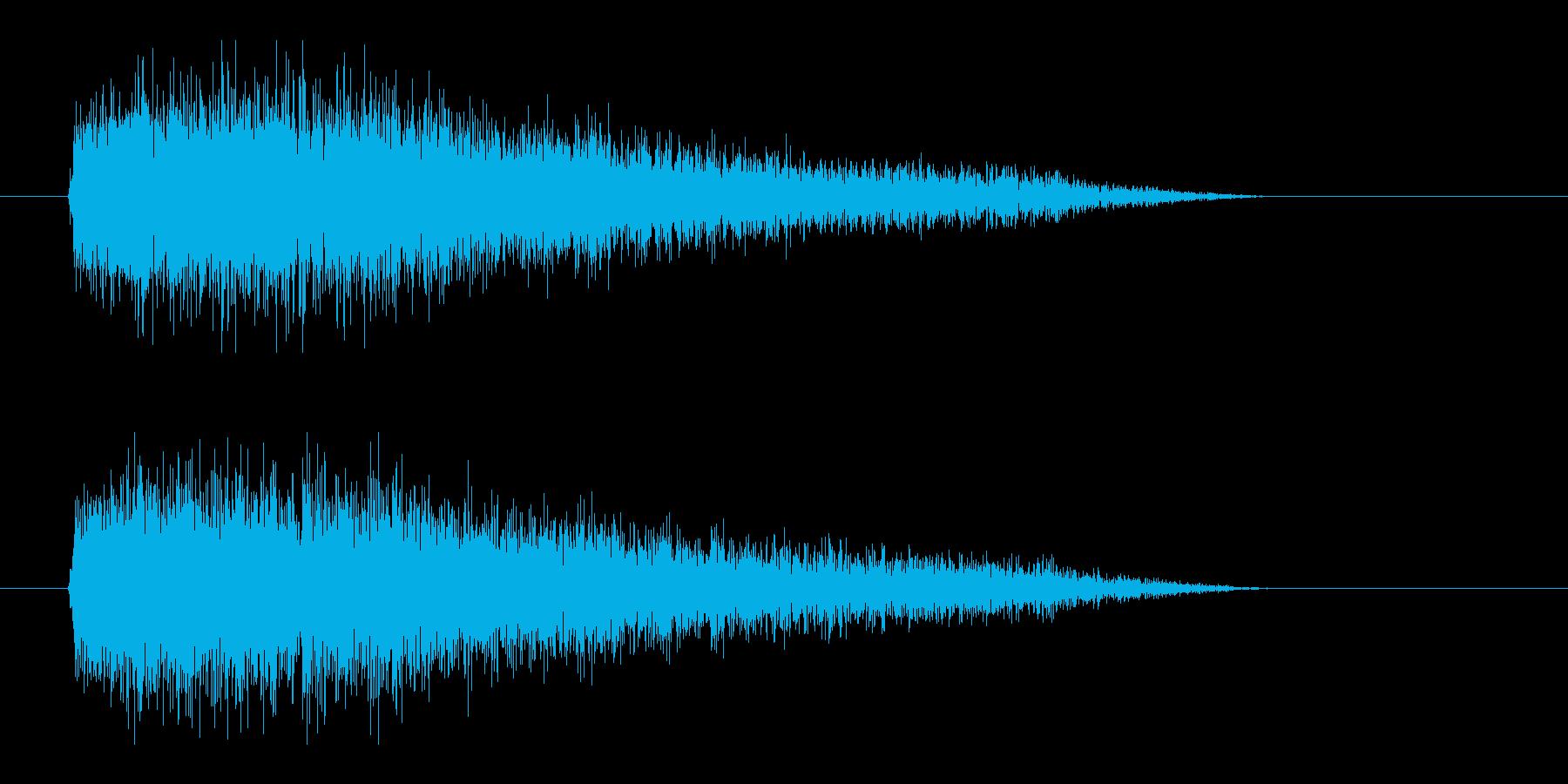 レーザー音-93-3の再生済みの波形