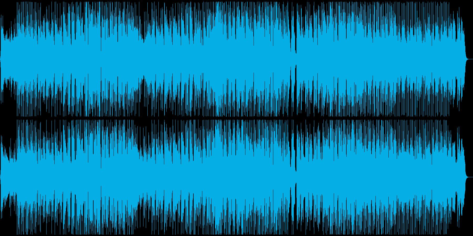 YOUTUBEでも流行った爽やかソングの再生済みの波形