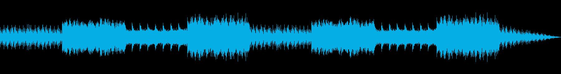 神秘的で落ち着いた雰囲気のBGMの再生済みの波形