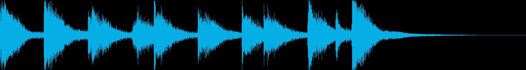 可愛らしい木琴のジングルの再生済みの波形