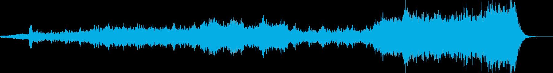 緊張感が増していくシリアスなオーケストラの再生済みの波形