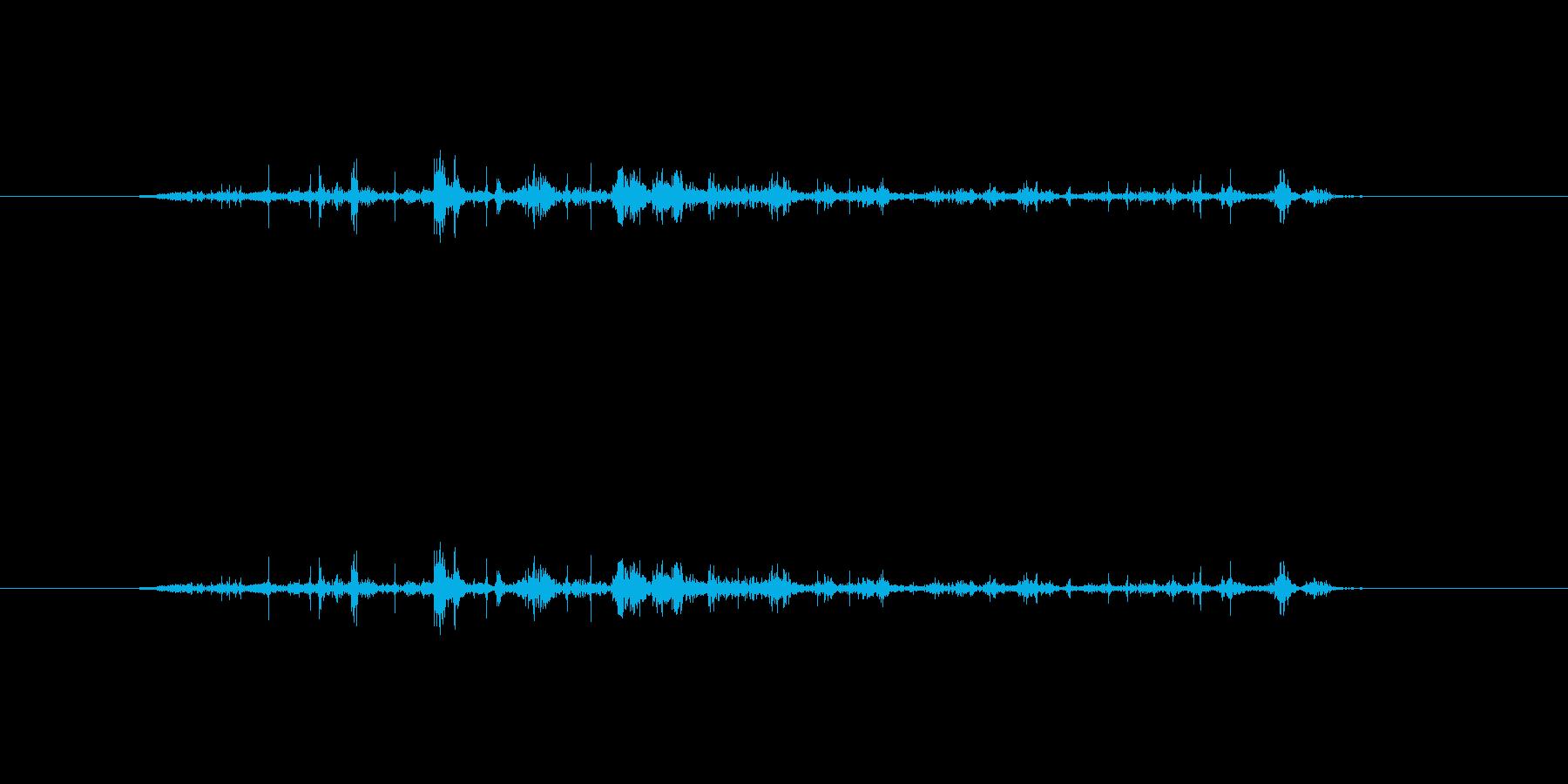 【本02-3(パラパラ)】の再生済みの波形