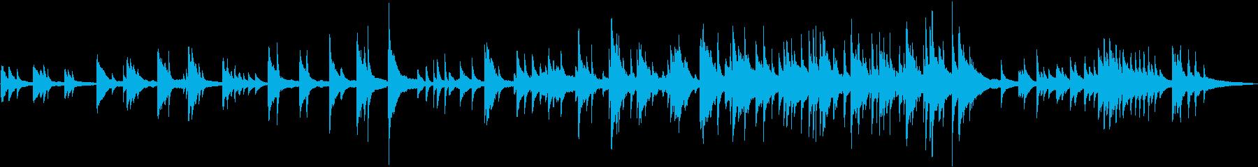 夏 風景 ドローン 空撮 ■ ピアノソロの再生済みの波形