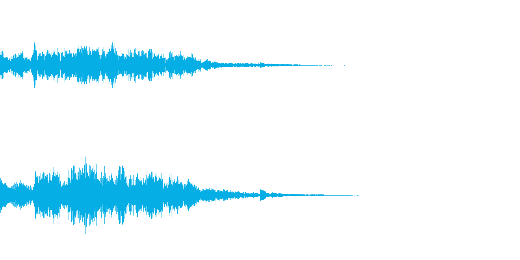 車やアプリなどの起動音の再生済みの波形