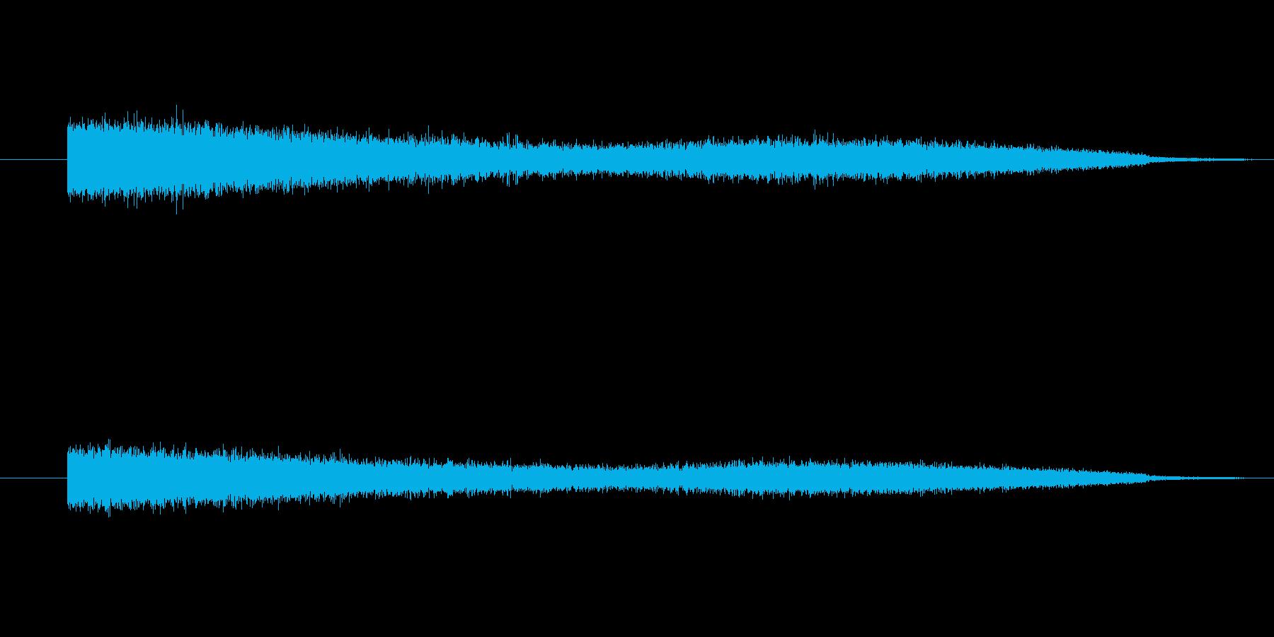 シューンと空間の中をさまようような音の再生済みの波形