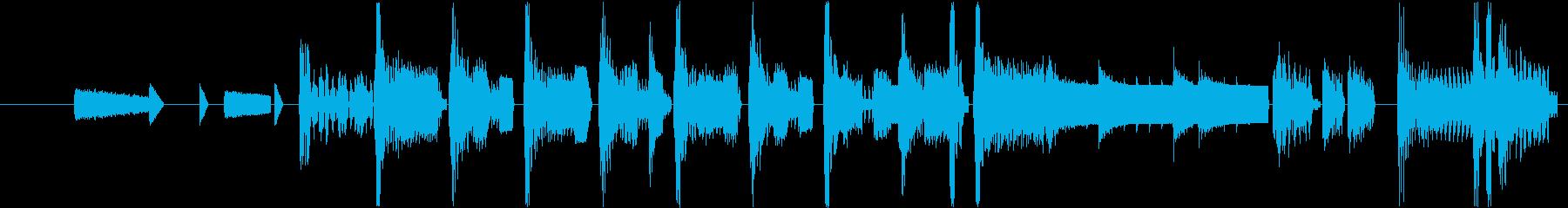 レトロゲーム風の軽快なジングル!の再生済みの波形