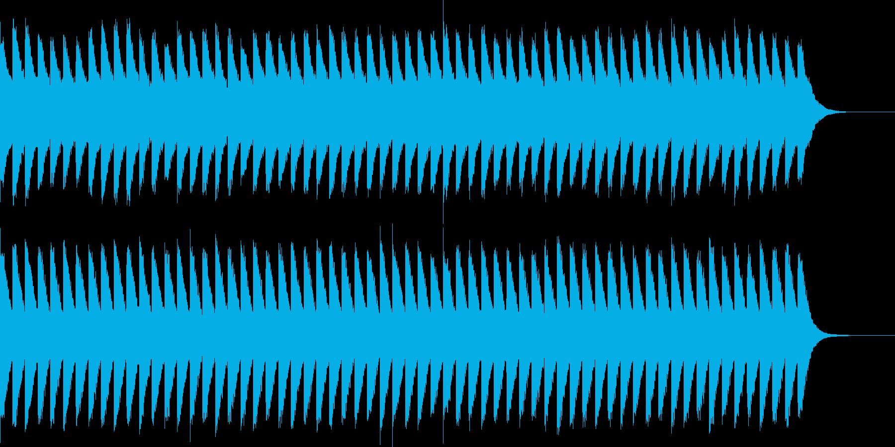 カンカンカン...。踏切D(低・長)の再生済みの波形