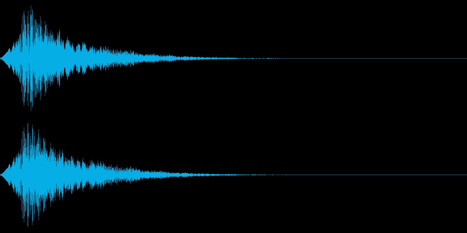 ポップでかわいい雰囲気のボタン音/選択音の再生済みの波形