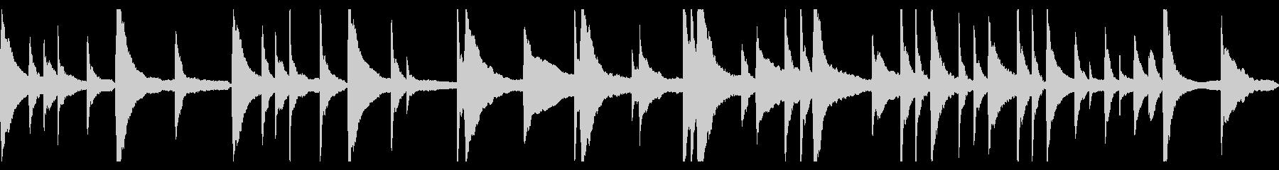 切ないピアノソロBGMの未再生の波形