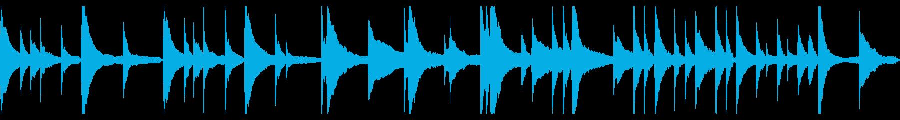 切ないピアノソロBGMの再生済みの波形