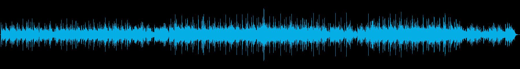 ゆったりキラキラ ハートフルなワルツ曲の再生済みの波形