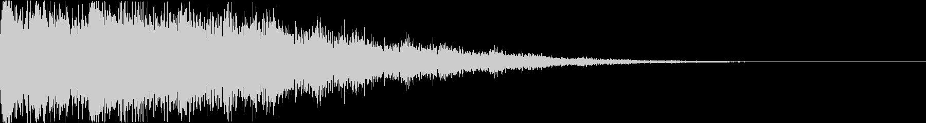 ディズニー・ファンタジー風な衝撃音bの未再生の波形