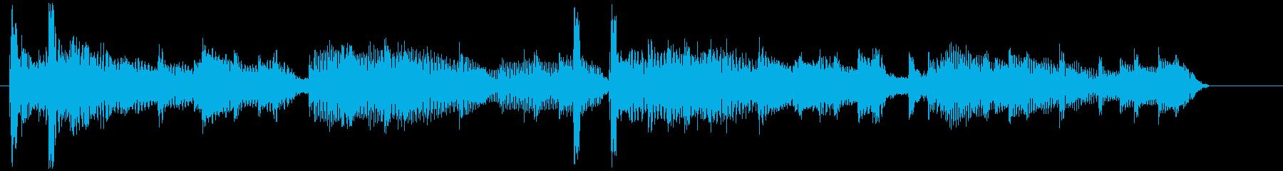 ほんわかしたギターの10秒ジングルの再生済みの波形