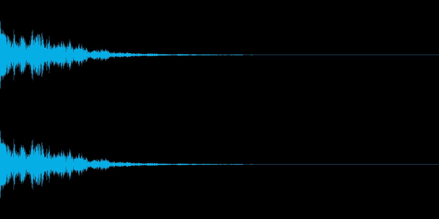 ヒット音。「ポーン」の再生済みの波形