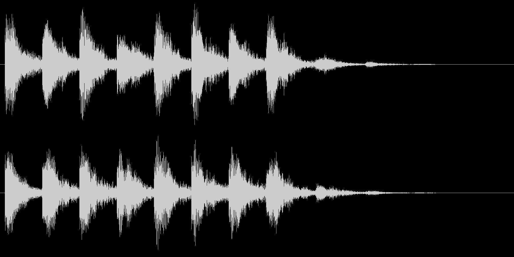 不安や心配の音 危険 ホラー サスペンスの未再生の波形