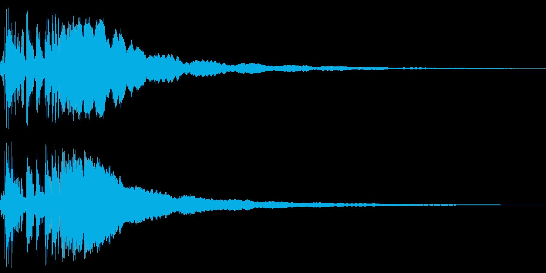 レジスターの清算音(ガチーン)の再生済みの波形