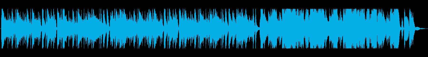 日常系カフェミュージックの再生済みの波形
