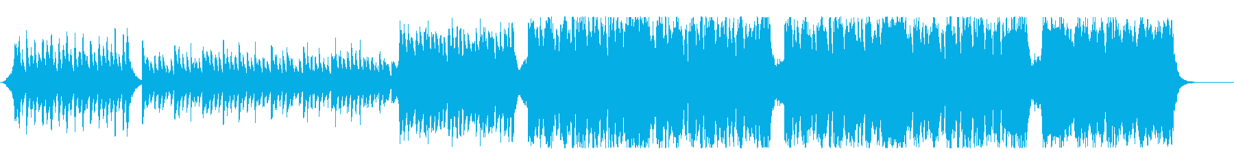 明るくワクワクなウィンターオーケストラの再生済みの波形