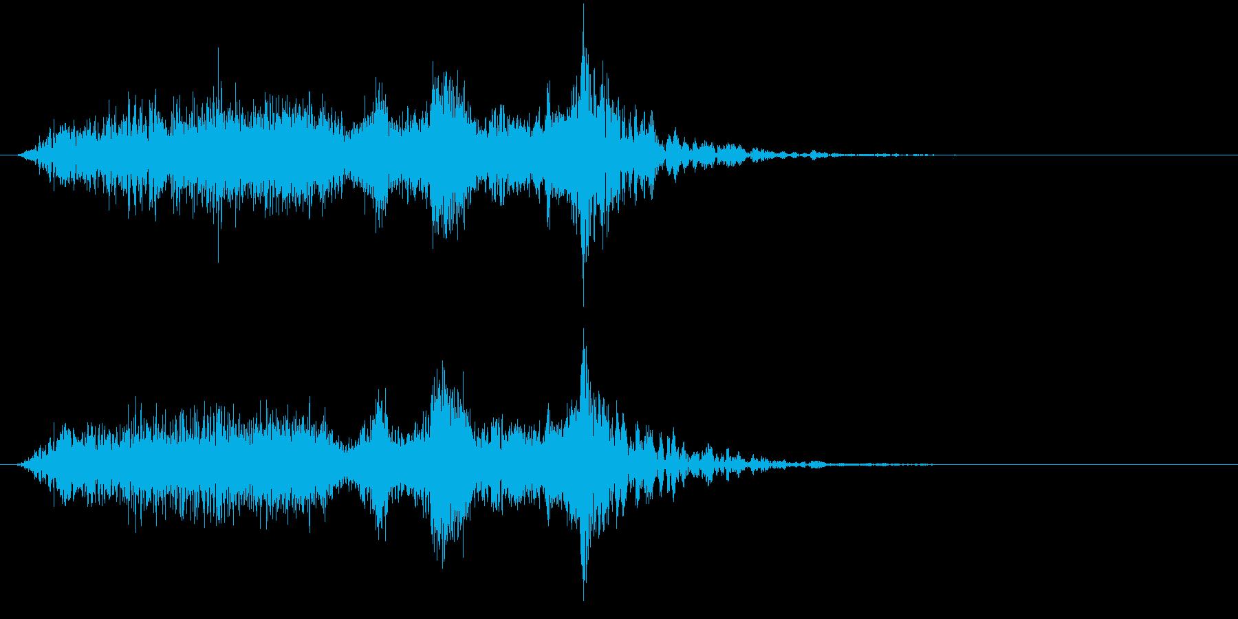 トランジション フラッシュ15の再生済みの波形