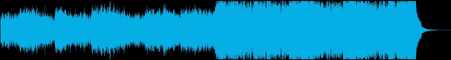 暗く重々しいシネマティックな曲の再生済みの波形