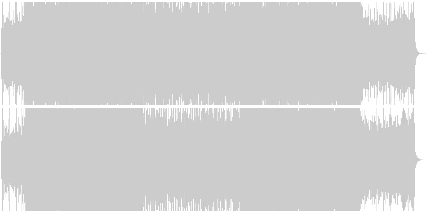 エレキとストリングスが印象的なサウンドの未再生の波形