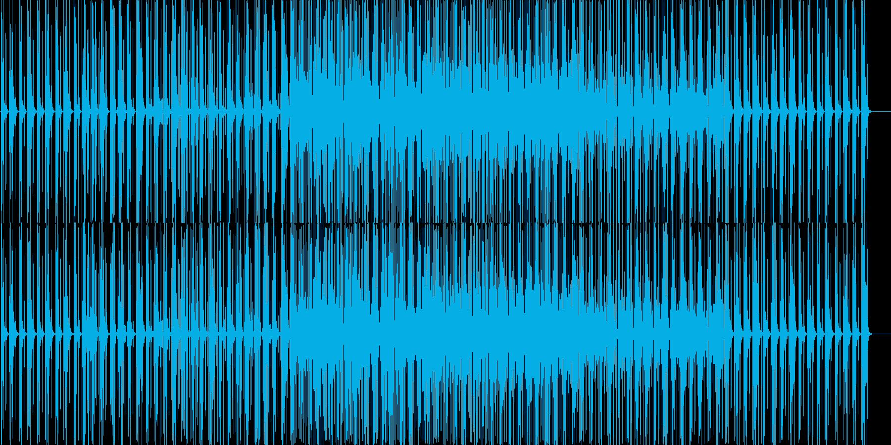 かわいいサンプリングエレクトロニカハウスの再生済みの波形