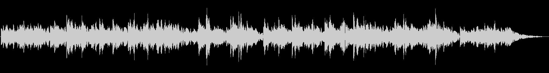 エレクトリックピアノの優しいBGMの未再生の波形