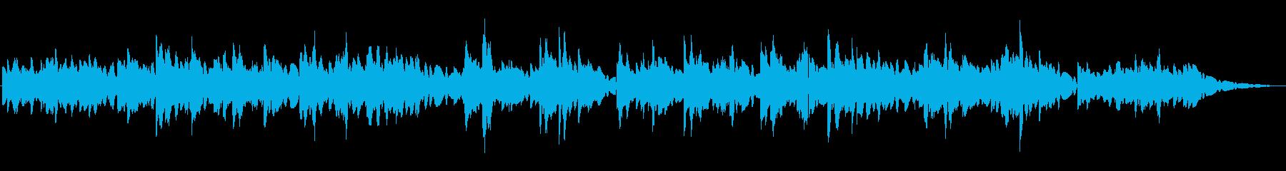エレクトリックピアノの優しいBGMの再生済みの波形