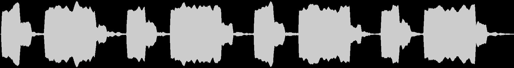 交差点の音響信号の未再生の波形