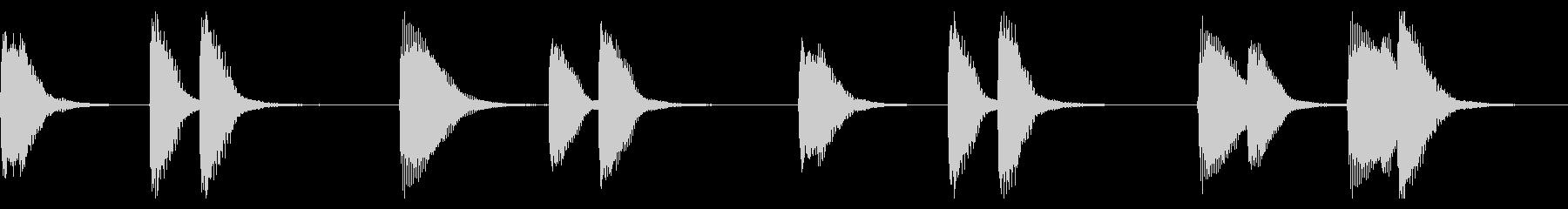 おドジなピアノBGMの未再生の波形