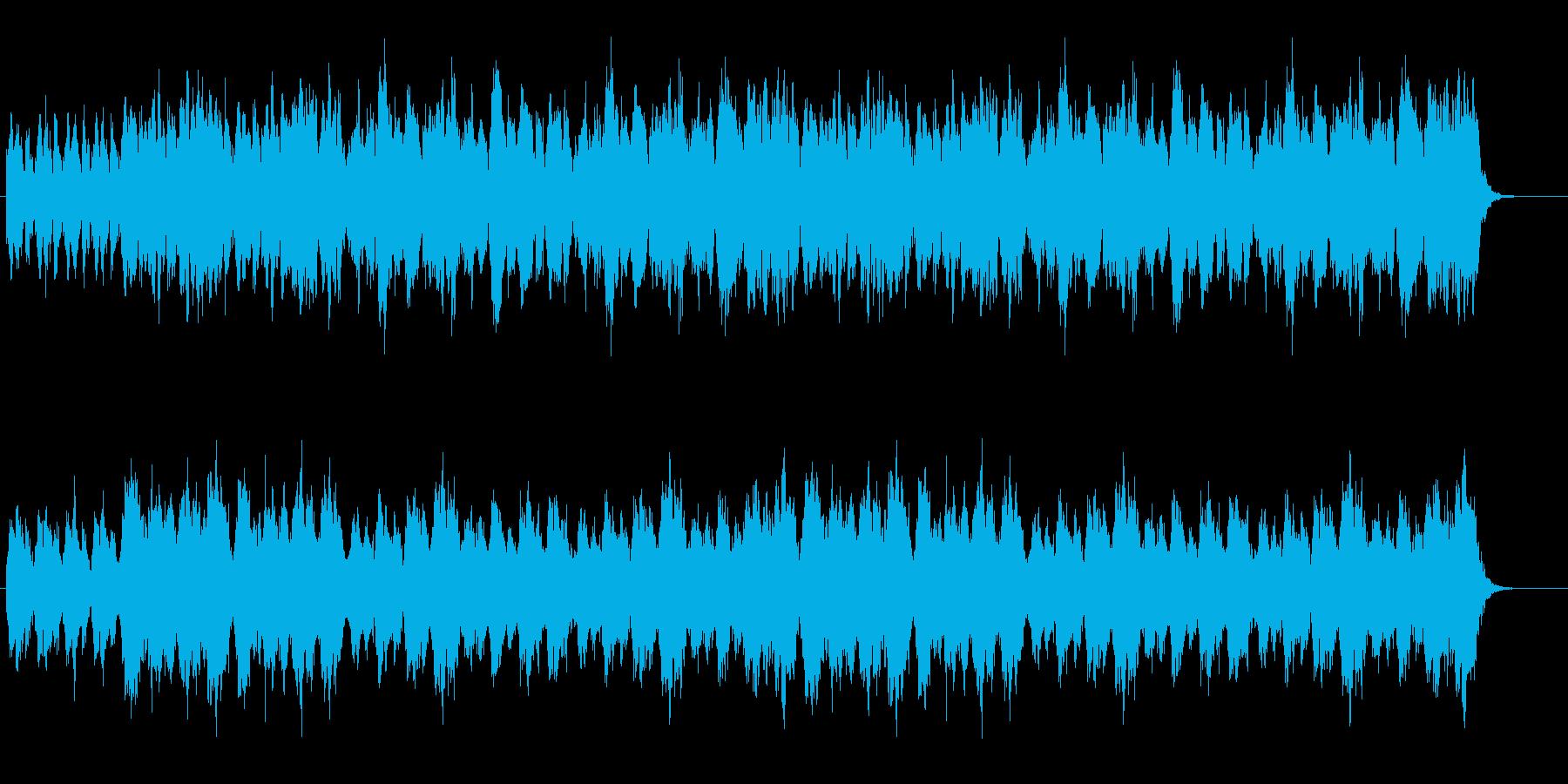オーケストラの幻想的なワルツの再生済みの波形