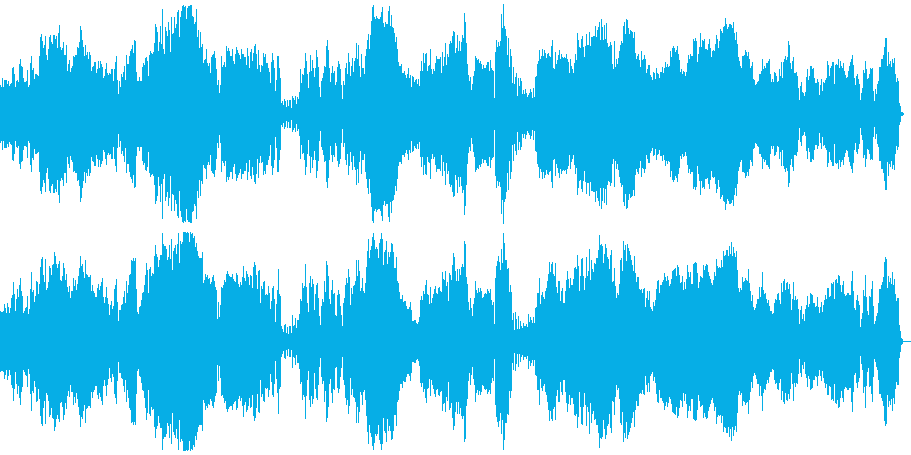 ゆったりとあたたかなクラシックの再生済みの波形