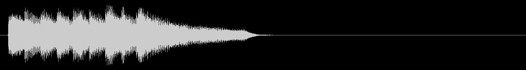 切ない気持ちになるピアノのアイキャッチの未再生の波形