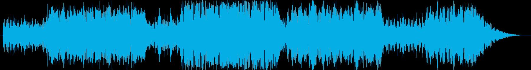コミカルな雰囲気のオーケストラBGMの再生済みの波形