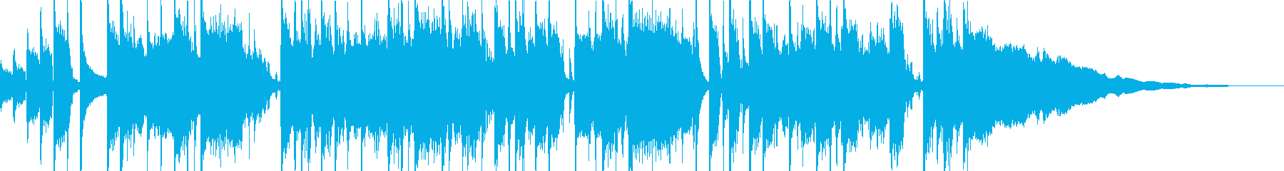 オシャレ エレキギター ジングル30秒の再生済みの波形