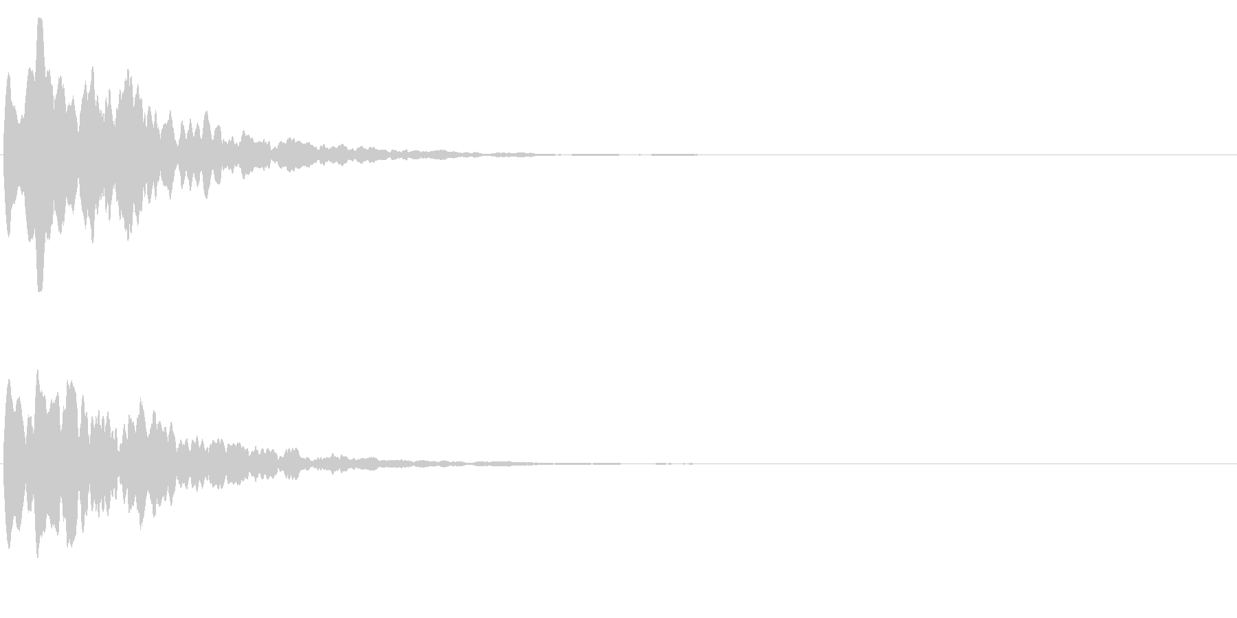 ゲームスタート、決定、ボタン音-147の未再生の波形