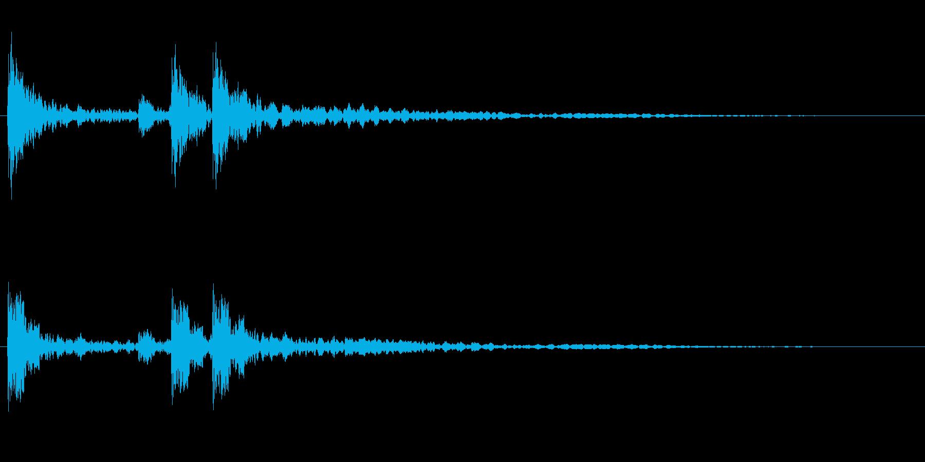 サスペンスに最適!ピアノの弦を弄ぶ音48の再生済みの波形