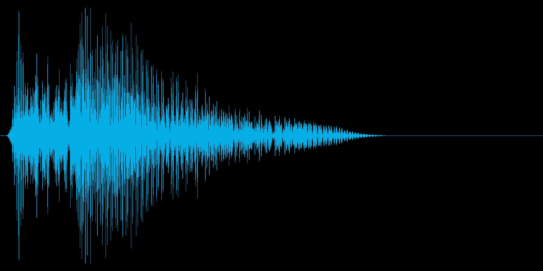 ゲーム掛け声ゾンビ1アウー2の再生済みの波形