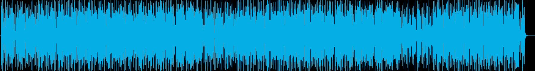 疾走感のあるポップスの再生済みの波形