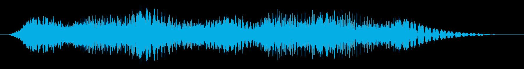 素材 揺れるドローン07の再生済みの波形