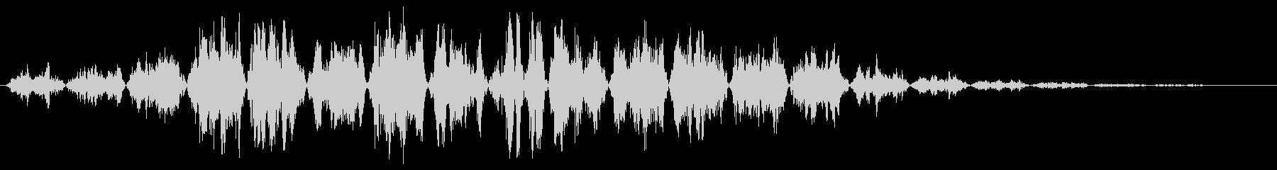 シュワシュワ〜(風切り音、通過音)の未再生の波形