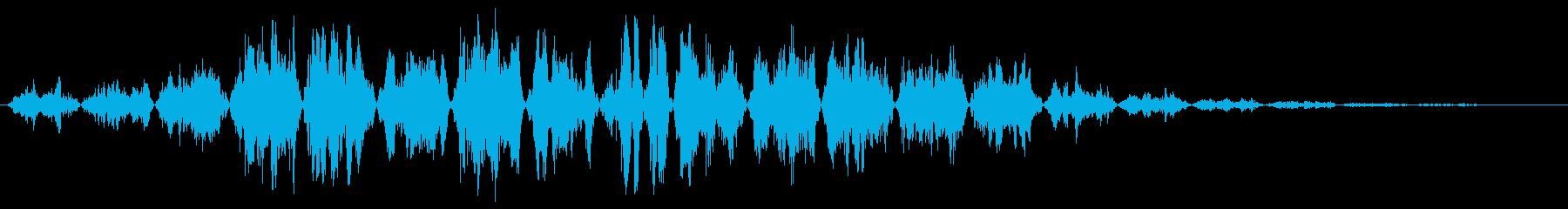 シュワシュワ〜(風切り音、通過音)の再生済みの波形