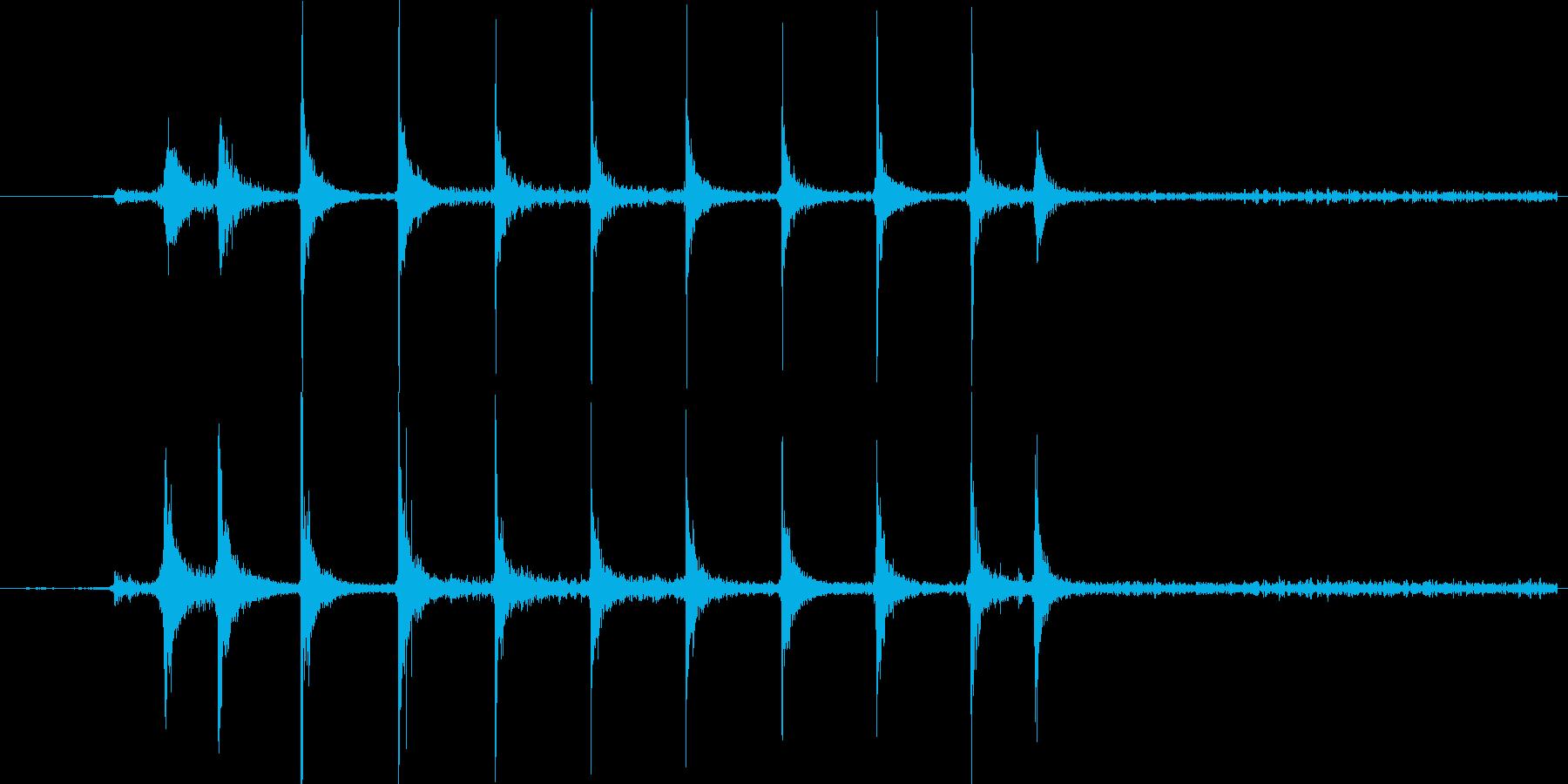 ガスコンロの着火音(音量大)の再生済みの波形
