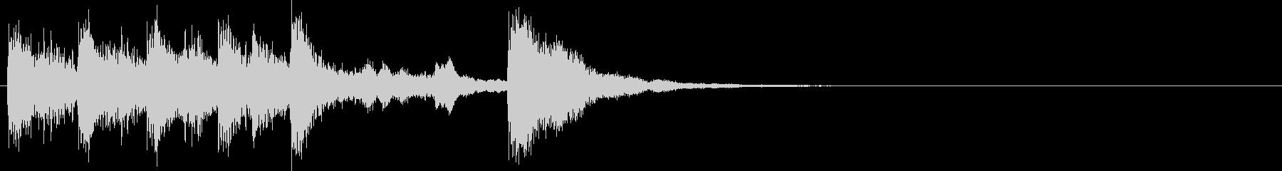 ティンパニが映えるレベルアップジングルの未再生の波形