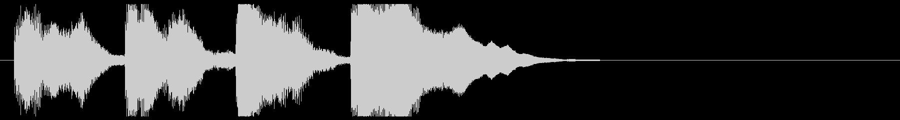 上昇する鉄琴のジングルの未再生の波形