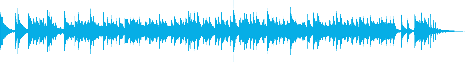 The beginning of a refreshing morning (piano)'s reproduced waveform
